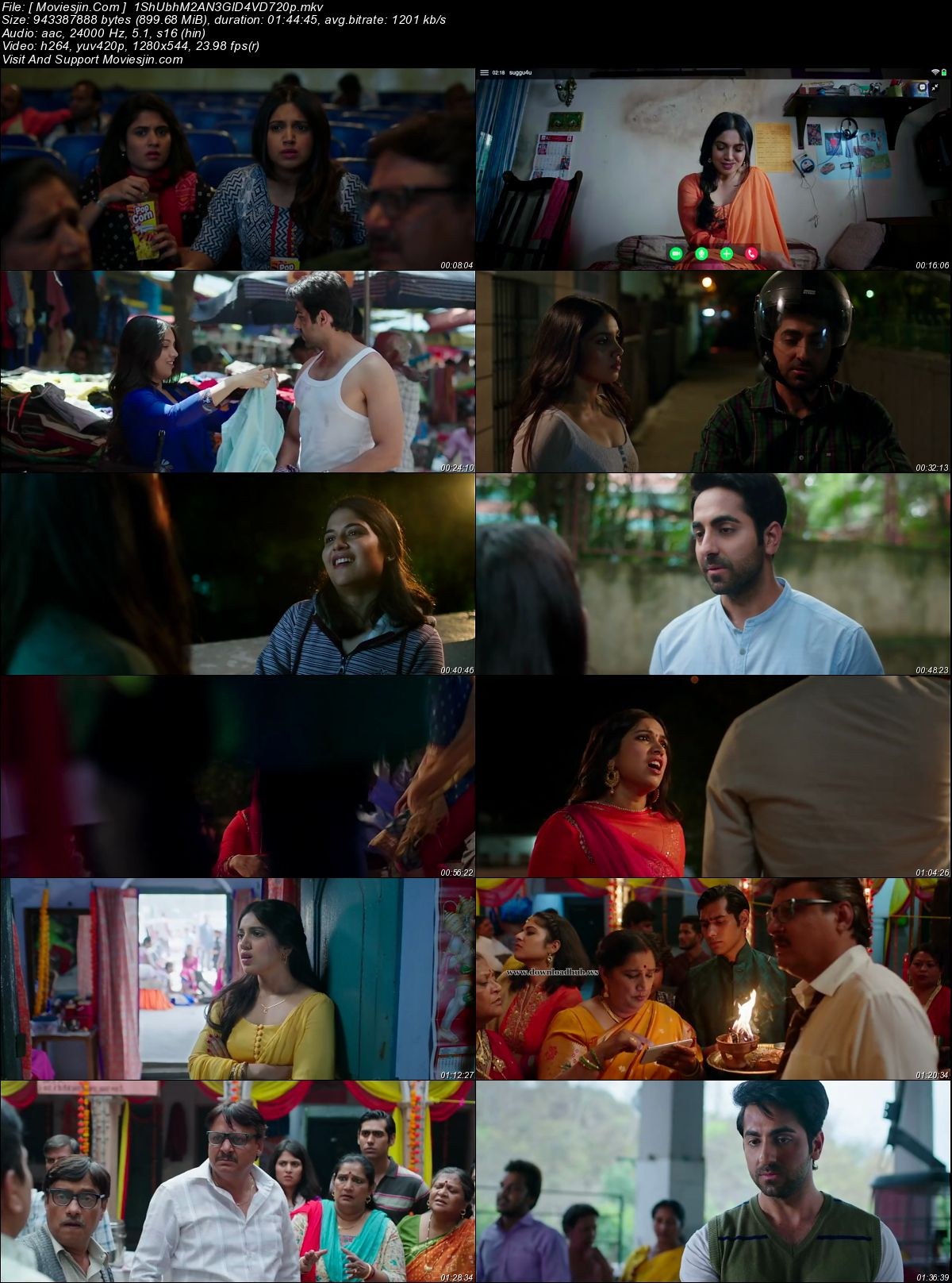Watch Online Shubh Mangal Saavdhan 2017 Full Hindi Movie 720p ESub 899MB Full Movie Download mkvcage