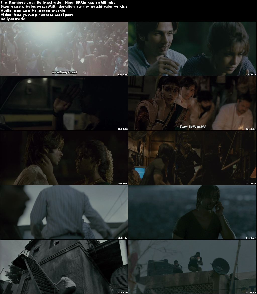 Kaminey 2009 BluRay 950Mb Full Hindi Movie Download 720p