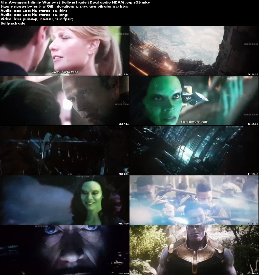 Avengers Infinity War Hindi Dubbed 720p Download Torrent