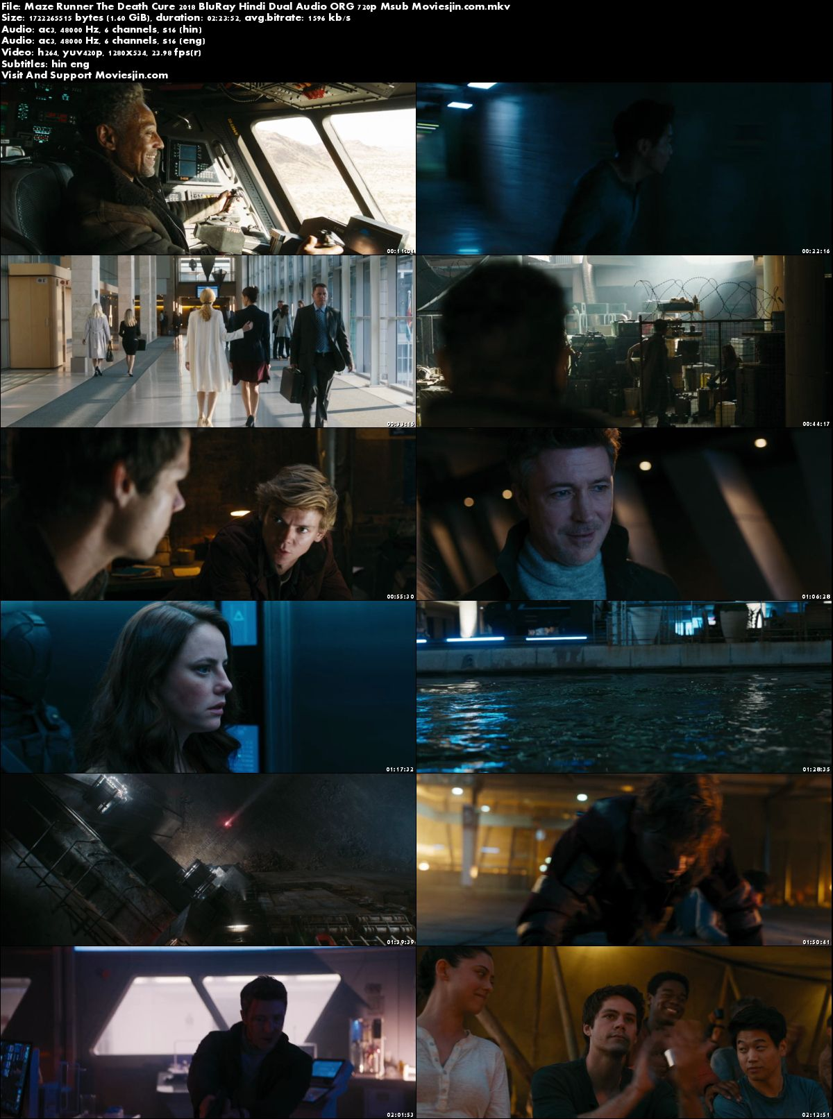 Watch Online Maze Runner The Death Cure 2018 BluRay Hindi 450MB Dual Audio 480p Msub Full Movie Download mkvcage