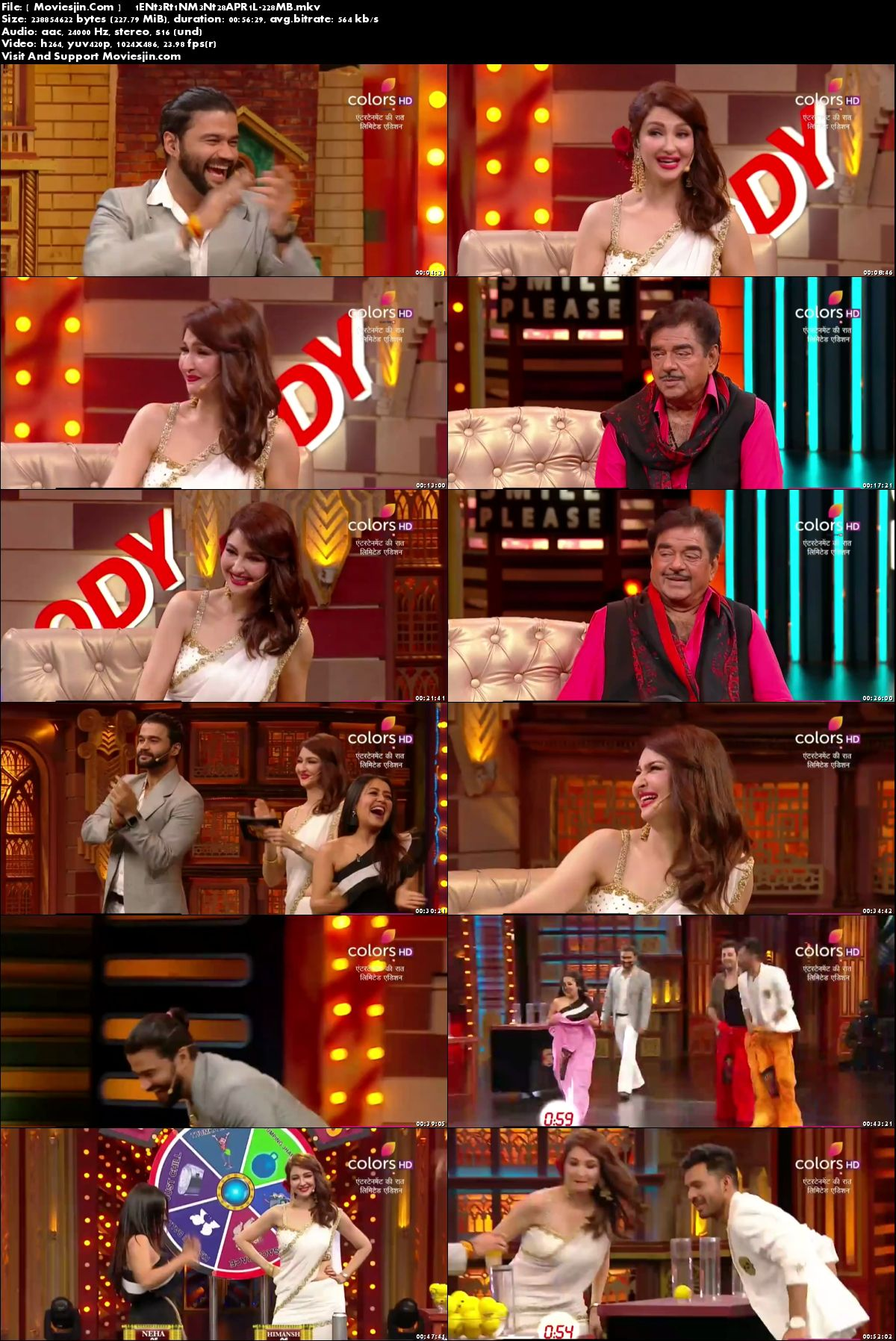 Watch Online Entertainment Ki Raat 28th April 2018 HD 230MB TVRip  480p Full Download mkvcage