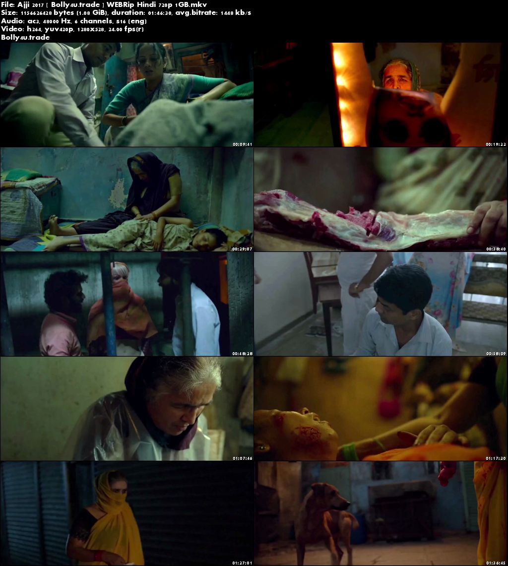 Ajji 2017 WEBRip 300MB Full Hindi Movie Download 480p