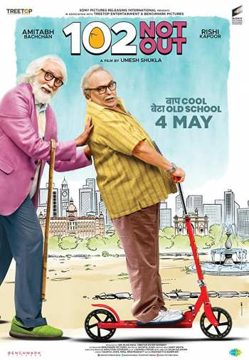 Watch Online 102 Not Out 2018 Pre DvDRip Hindi x264 280MB 480p Full Movie Download mkvcage