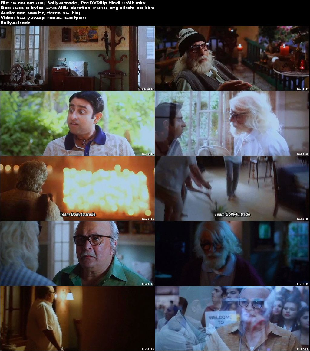 102 Not Out 2018 Pre DVDRip 300MB Full Hindi Movie Download 480p