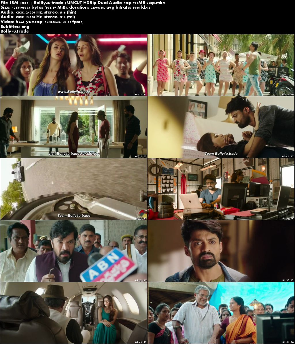 ISM 2016 HDRip 999MB UNCUT Hindi Dual Audio 720p ESub Download