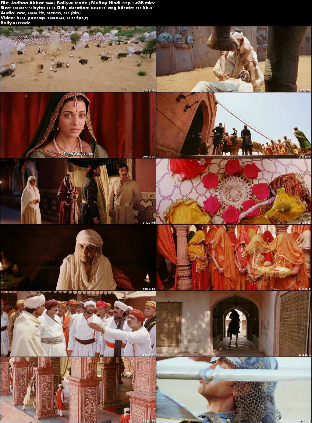 Jodhaa Akbar 2008 BluRay Full Hindi Movie Download 720p