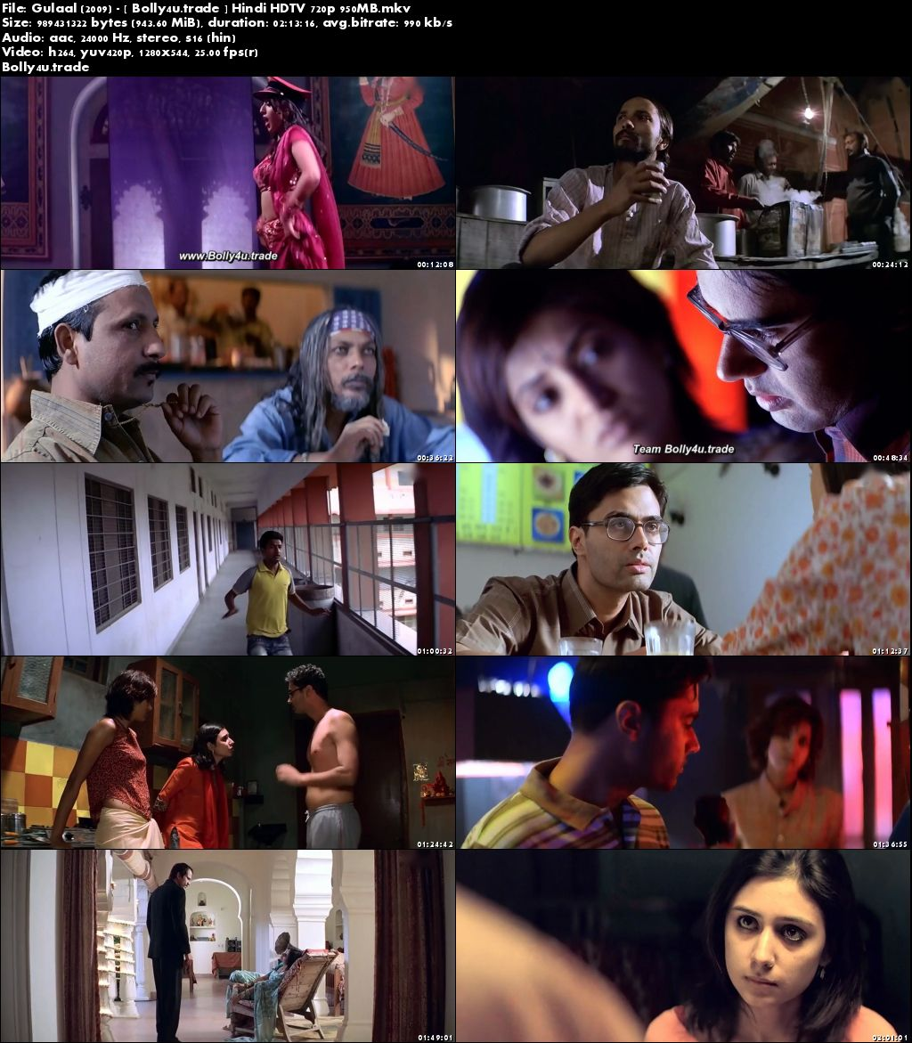Gulaal 2009 HDTV 950Mb Full Hindi Movie Download 720p