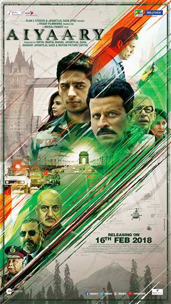 Watch Online Aiyaary 2018 TvRip Full Movie Hindi 450MB 480p Full Movie Download mkvcage
