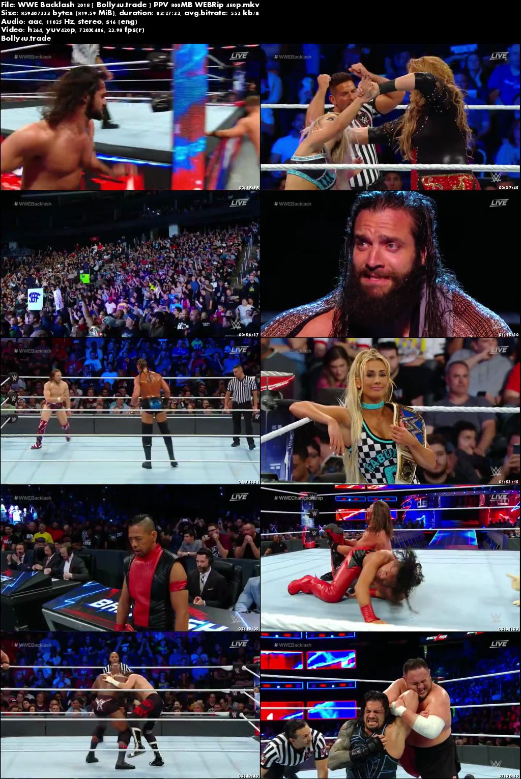 WWE Backlash 2018 WBERip 800MB PPV Full Show 480p Download