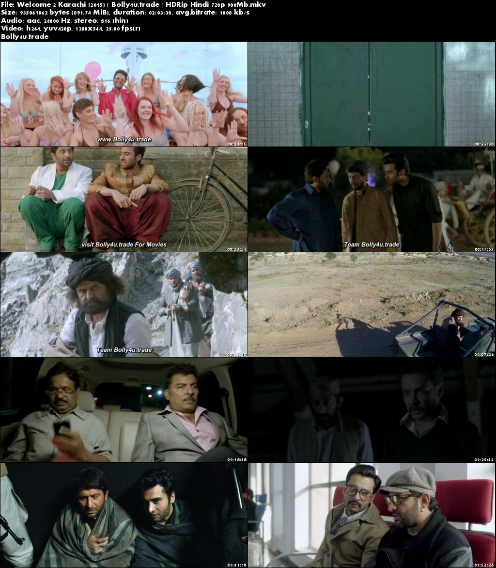 Welcome 2 Karachi 2015 HDRip 350MB Full Hindi Movie Download 480p