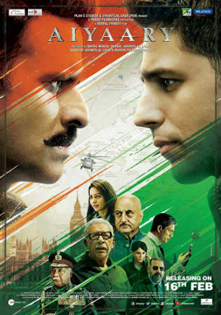 Aiyaary 2018 DVDRip 450Mb Full Hindi Movie Download 480p Watch Online Free bolly4u