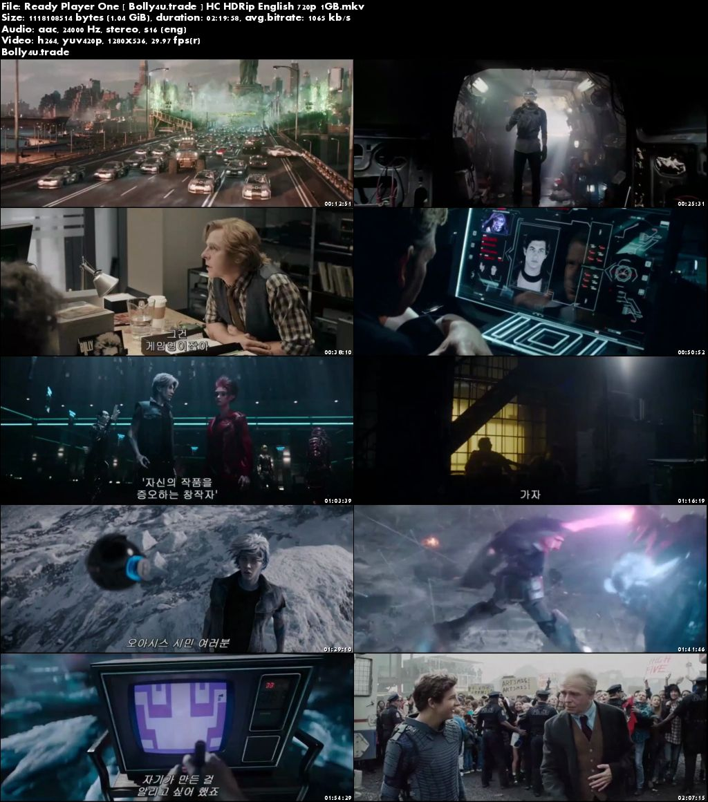 Ready Player One 2018 HC HDRip 1GB English 720p Download