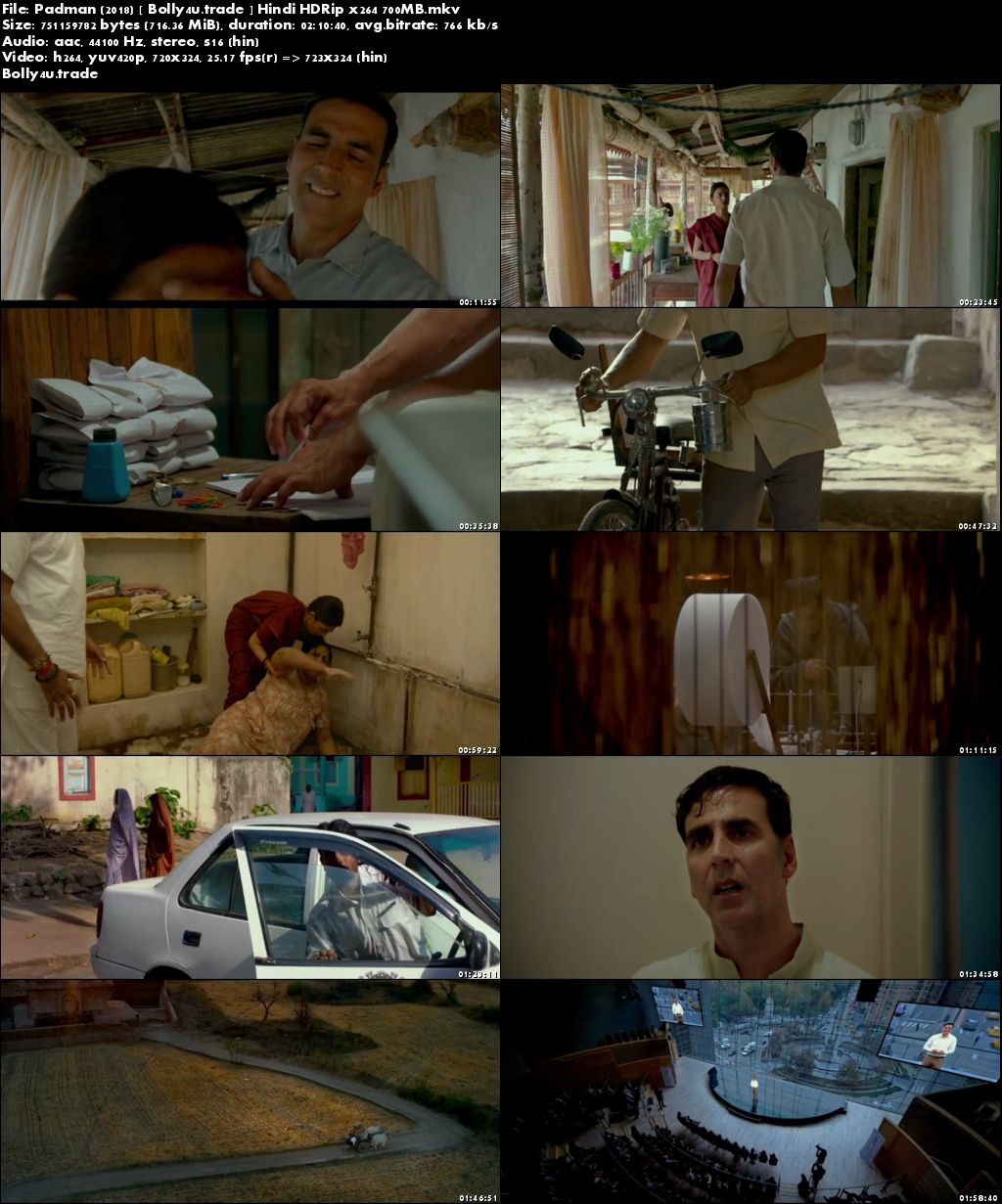 Padman 2018 HDRip 700Mb Full Hindi Movie Download x264