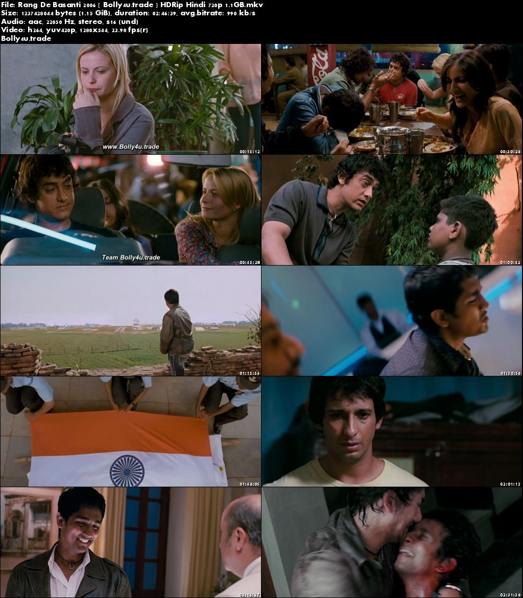 Rang De Basanti 2006 HDRip 1Gb Full Hindi Movie Download 720p