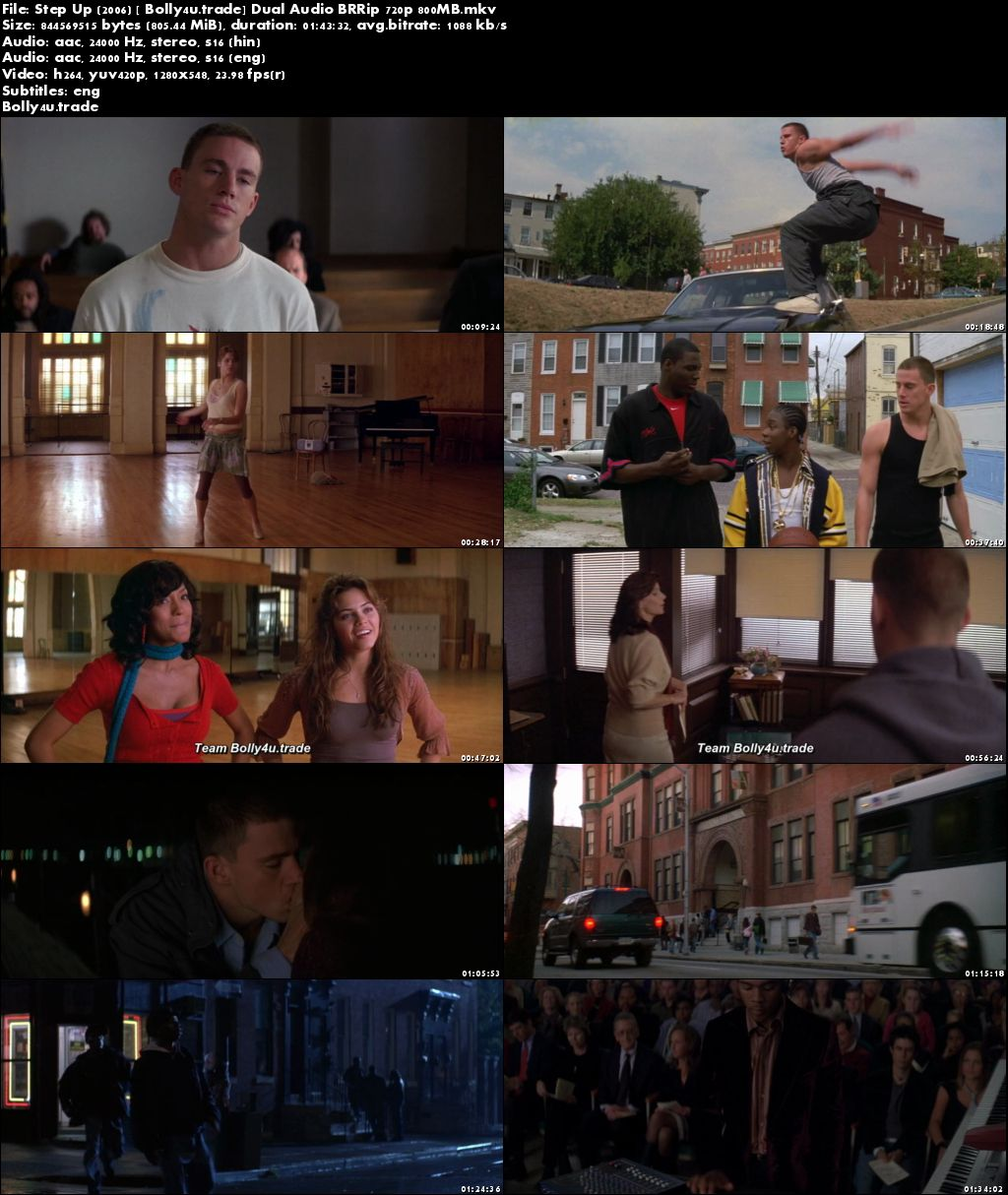 Step Up 2006 BRRip 350MB Hindi Dual Audio 480p Download