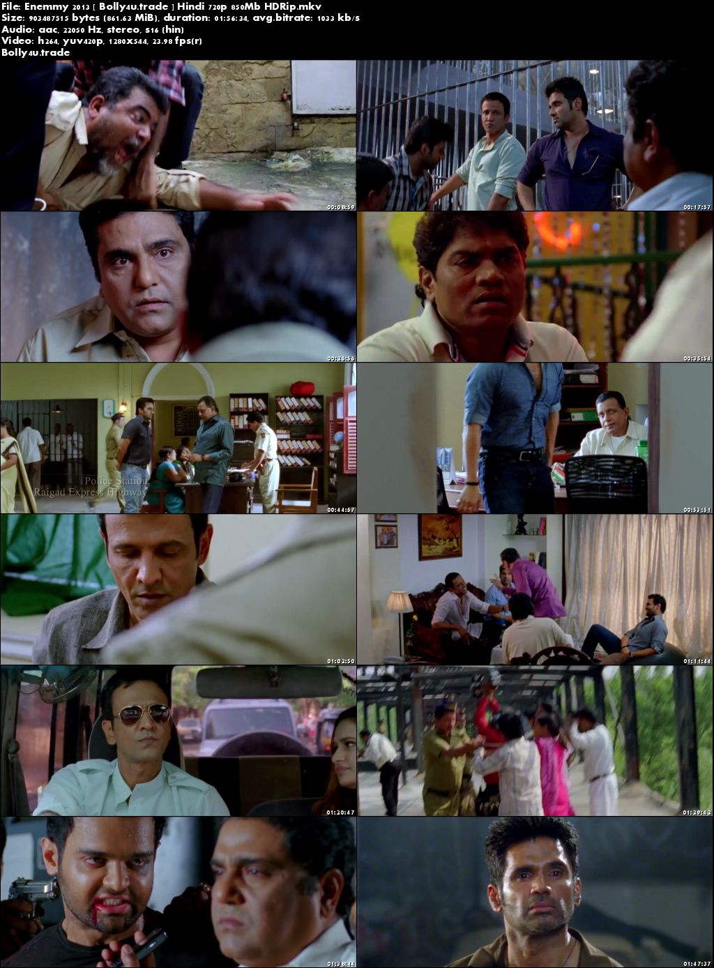 Enemmy 2013 HDRip 850Mb Full Hindi Movie Download 720p