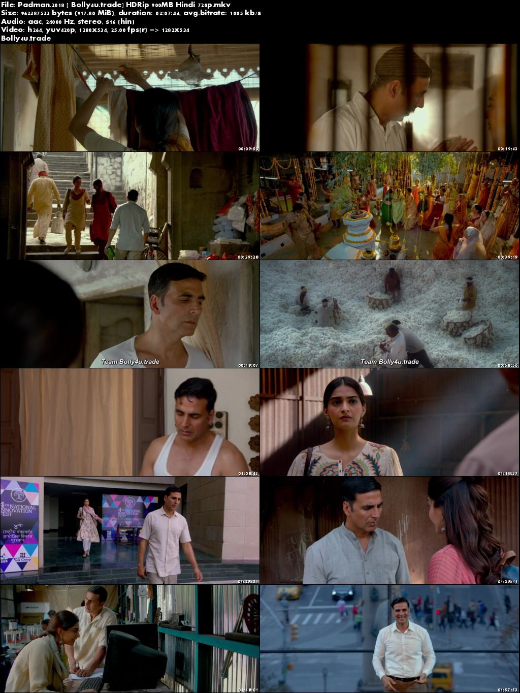 Padman 2018 HDRip 900Mb Full Hindi Movie Download 720p