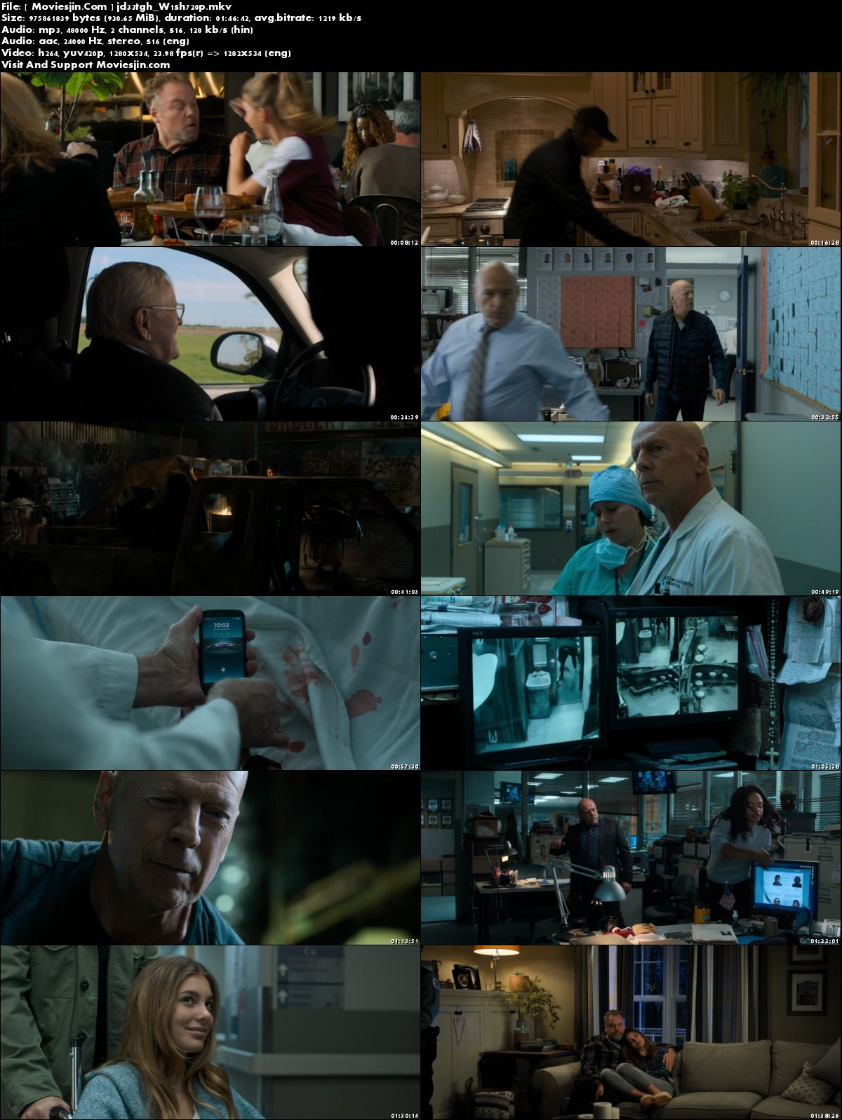 Watch Online Death Wish 2018 Hindi HD-Rip Dual Audio 900MB Movie 720p Full Movie Download mkvcage