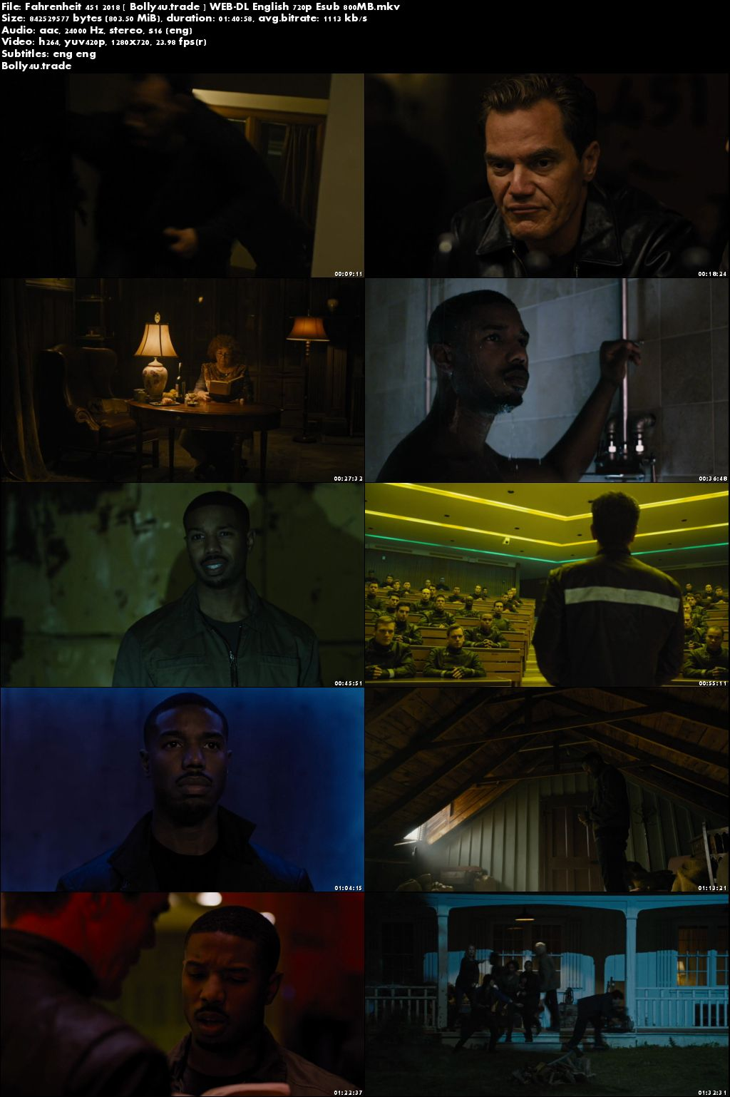 Fahrenheit 451 2018 WEB-DL 300MB English 480p ESub DOWNLOAD