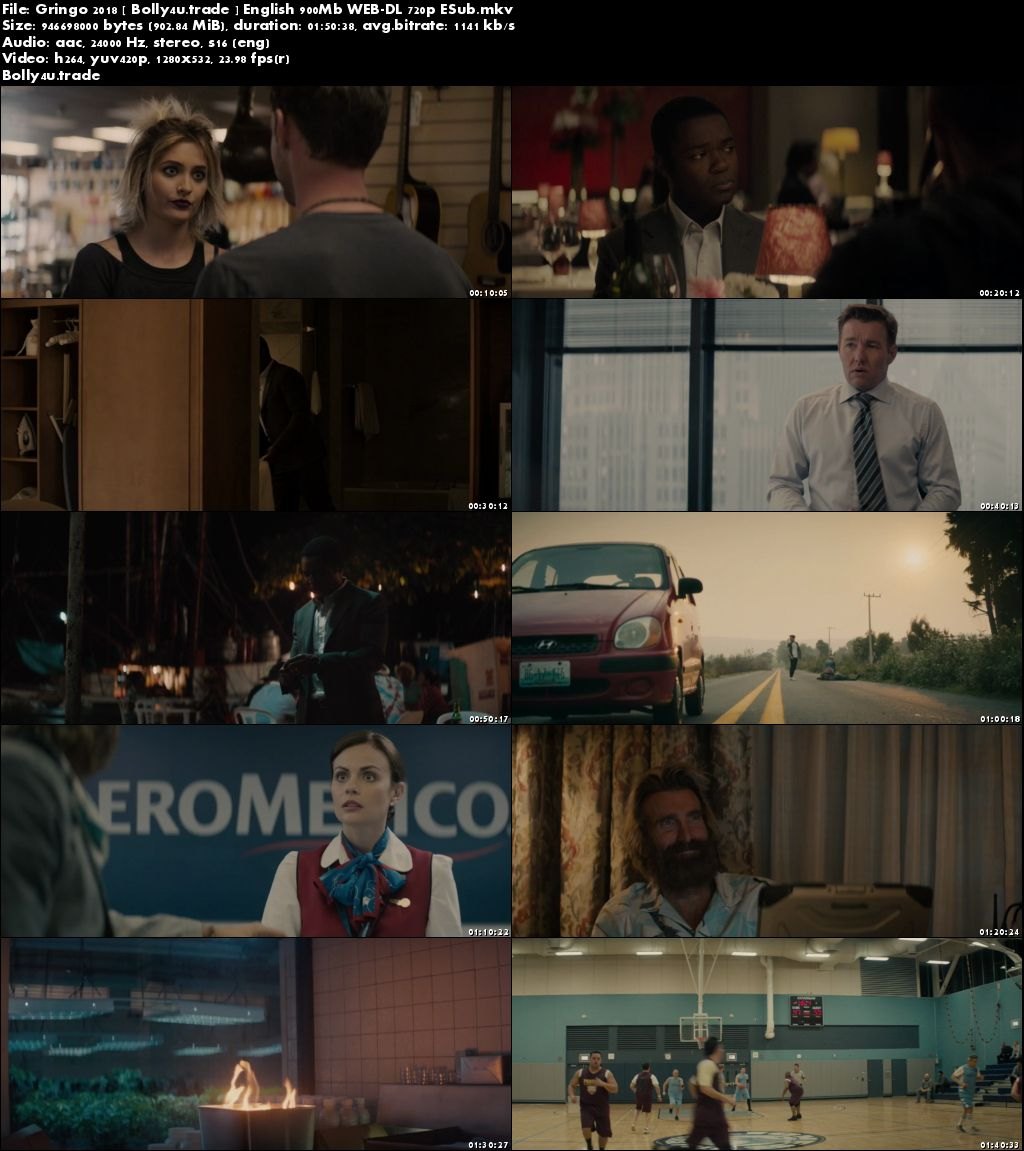 Gringo 2018 WEB-DL 900MB English 720p Download