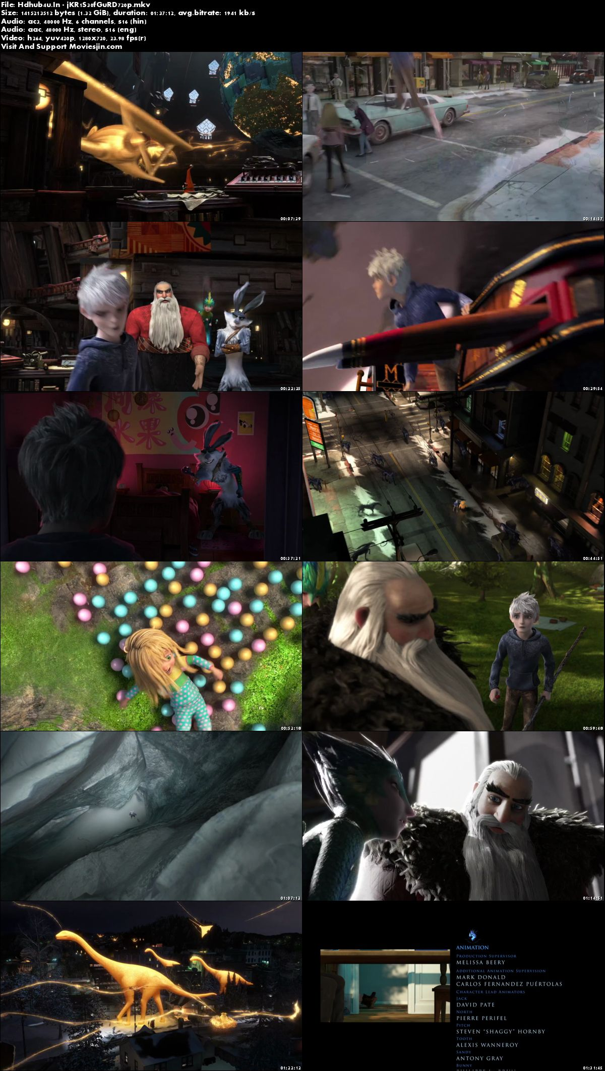 Watch Online Rise of The Guardians 2012 BRRip Movie Hindi ORG Dual Audio 720p Esub Full Movie Download mkvcage