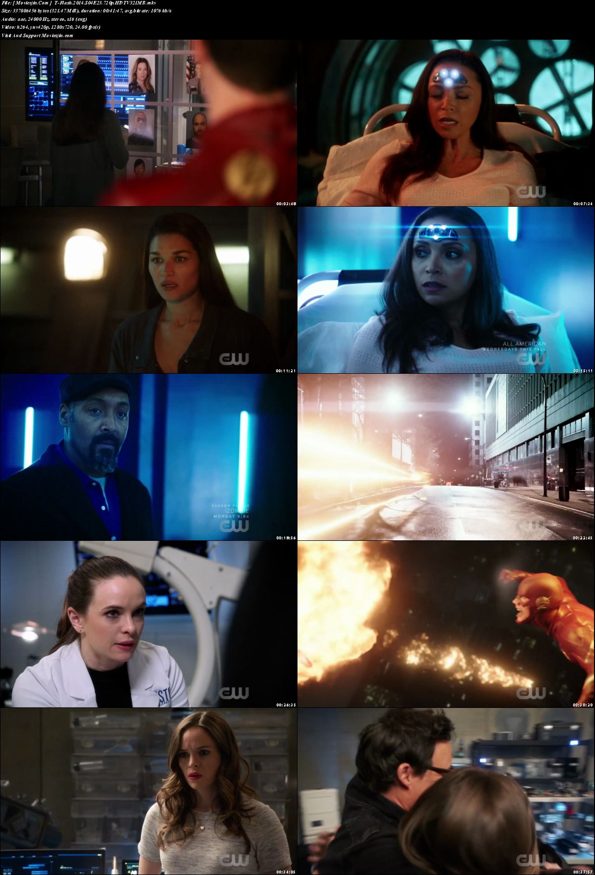 Watch Online The Flash S04E23 TVRip 321MB x264 720p Full Movie Download mkvcage