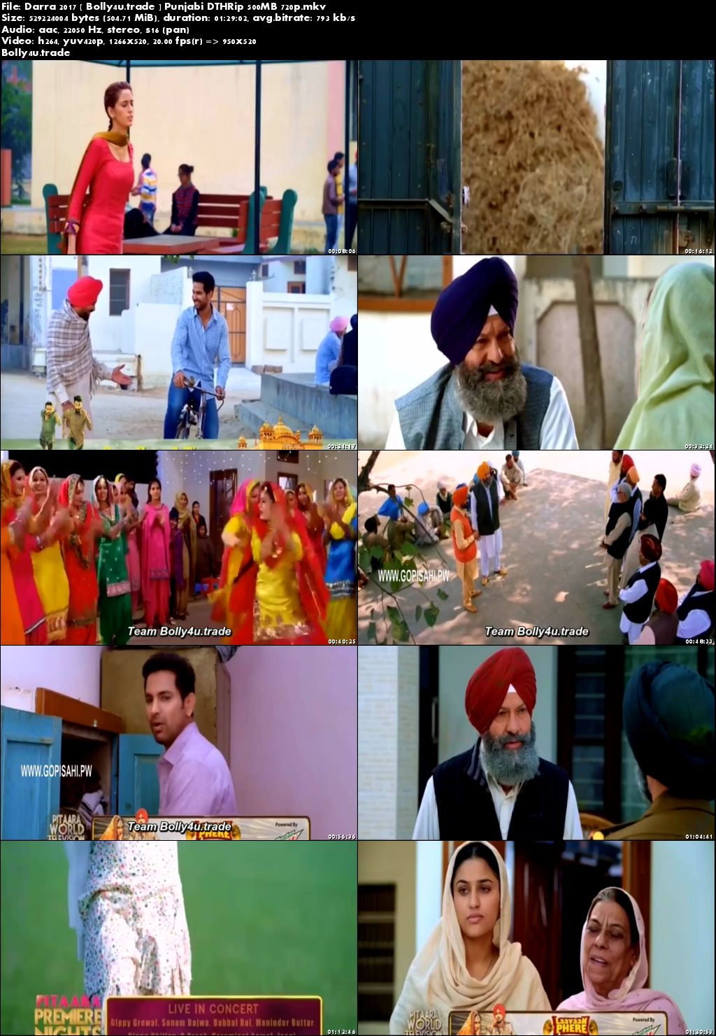 Darra 2017 DTHRip 280MB Full Punjabi Movie Download 480p