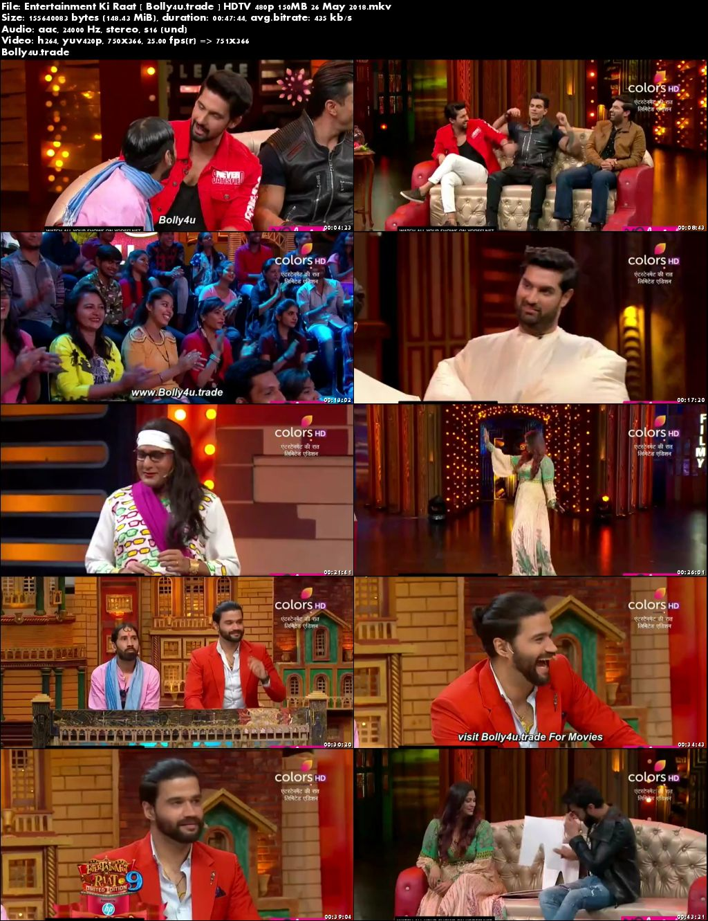 Entertainment Ki Raat HDTV 480p 150MB 26 May 2018 Download