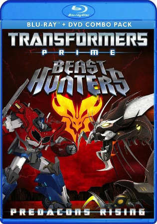 Transformers Prime Beast Hunters Predacons Rising 2013 BRRip 200MB Hindi Dual Audio 480p