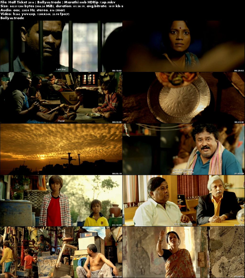 Half Ticket 2016 HDRip 300Mb Marathi 480p Download