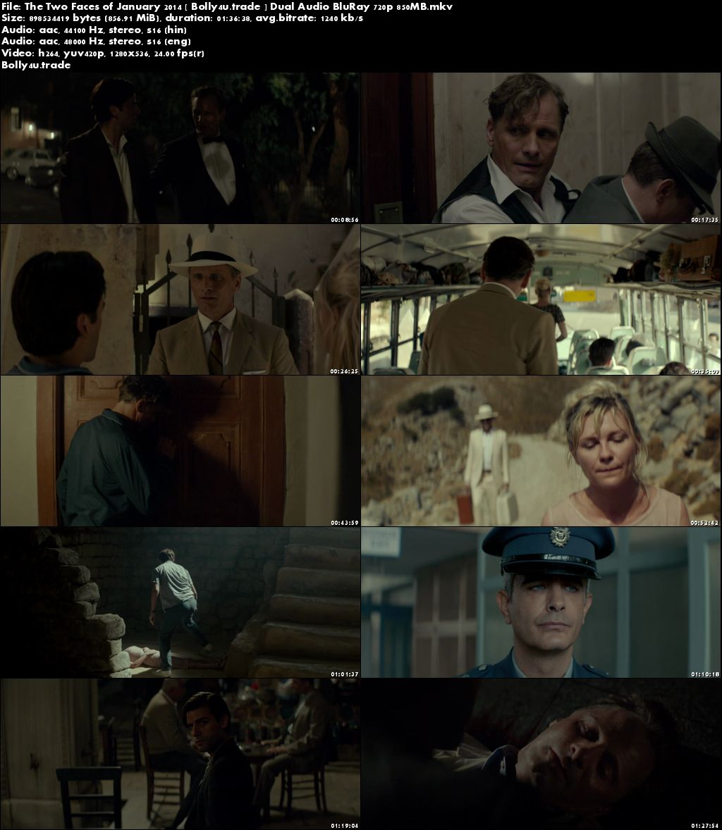 The Two Faces of January 2014 BluRay 300MB Hindi Dual Audio 480p Download