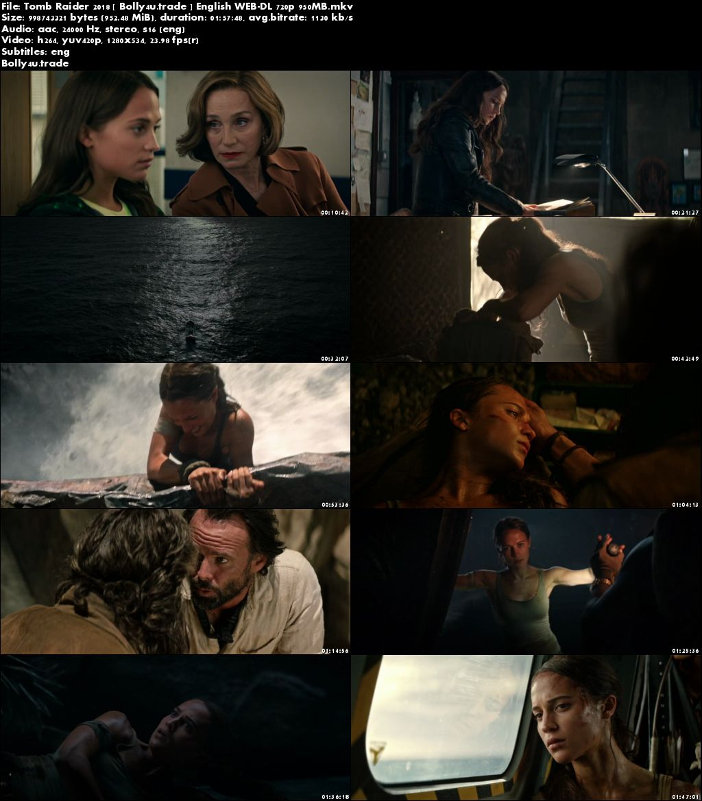 Tomb Raider 2018 WEB-DL 950Mb English 720p ESub Download