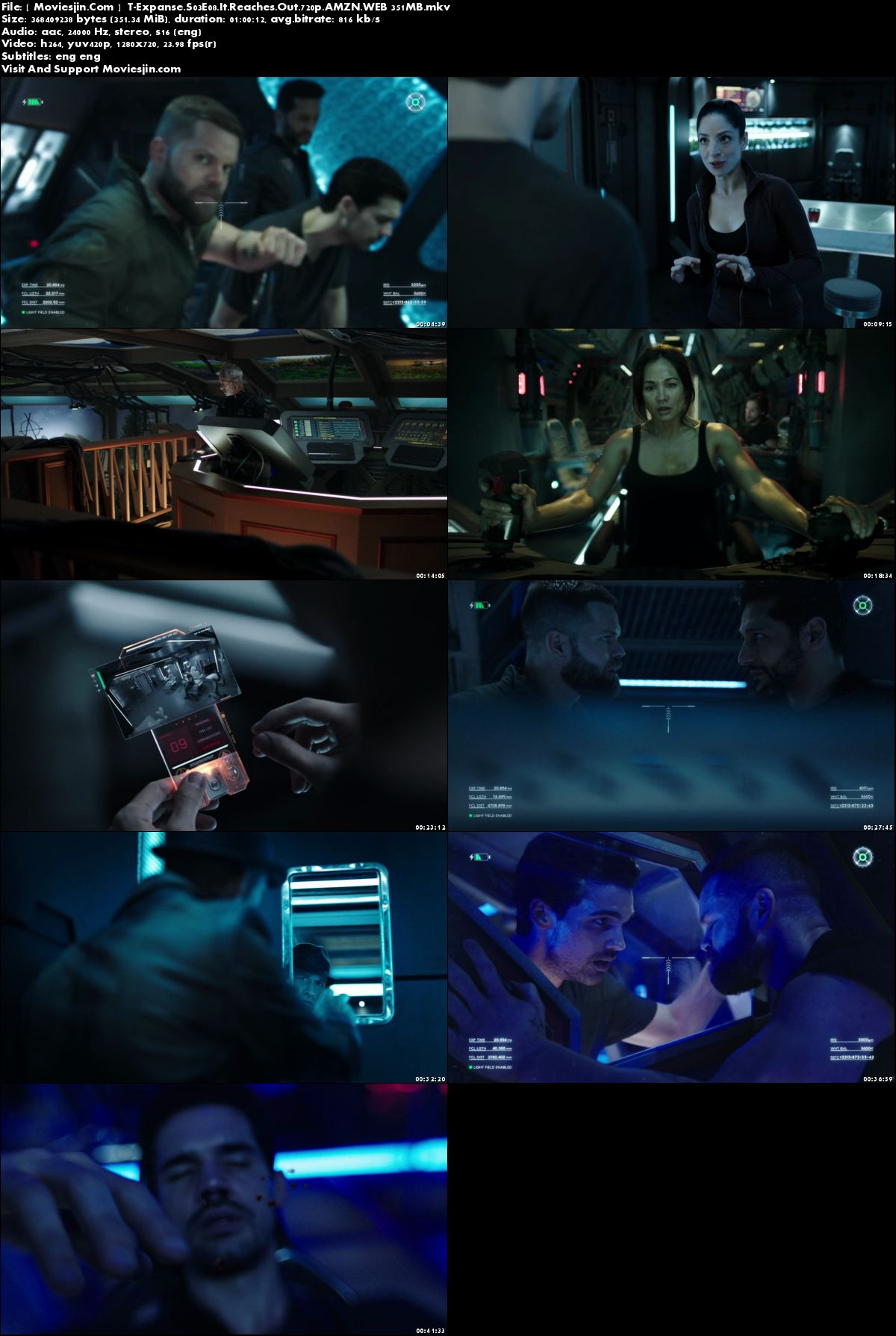 Watch Online The Expanse S03E08 WEB-Rip x264 720p ESub 351MB Full Download mkvcage