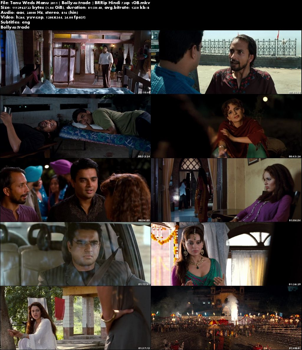 Tanu Weds Manu 2011 BRRip 350MB Full Hindi Movie Download 480p