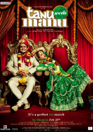 Tanu Weds Manu 2011 BRRip 350MB Full Hindi Movie Download 480p Watch Online Full Movie Download bolly4u