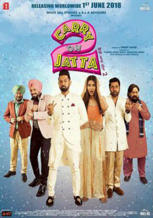 Carry On Jatta 2 2018 Pre DVDRip 800MB Punjabi x264 Watch Online Full Movie Download bolly4u