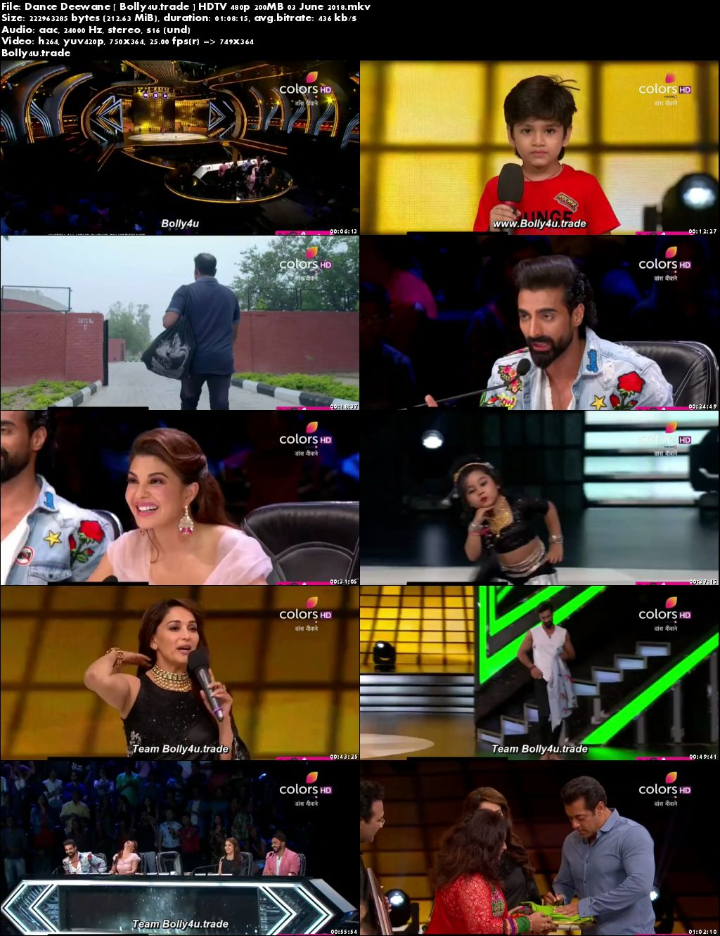 Dance Deewane HDTV 480p 200MB 03 June 2018 Download