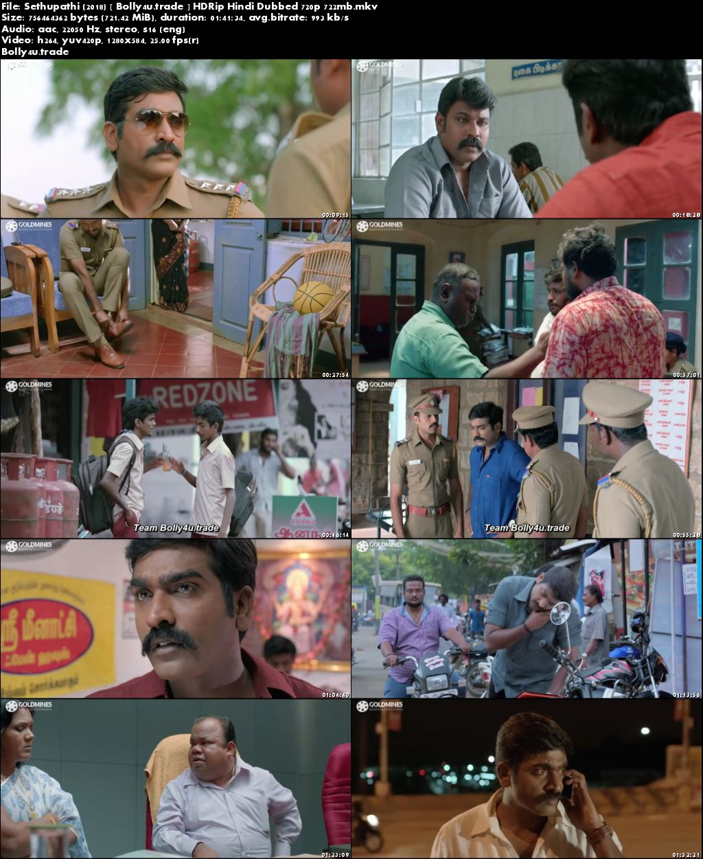 Sethupathi 2018 HDRip 300MB Hindi Dubbed 480p Download