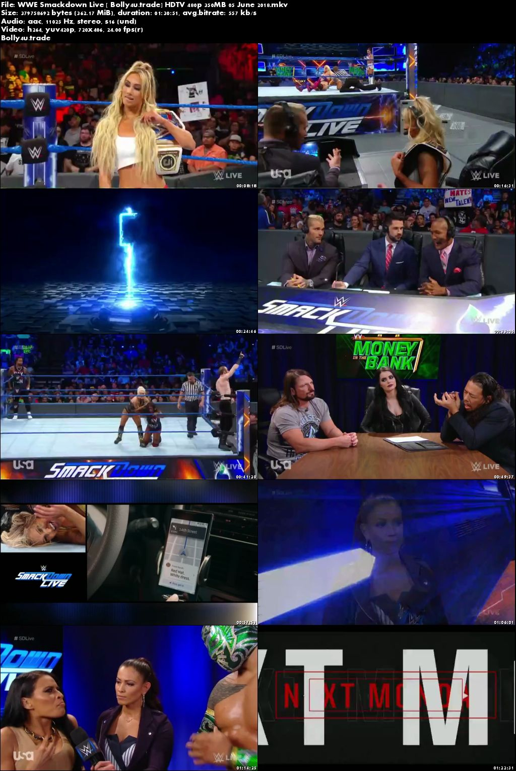 WWE Smackdown Live HDTV 480p 350Mb 05 June 2018 Download