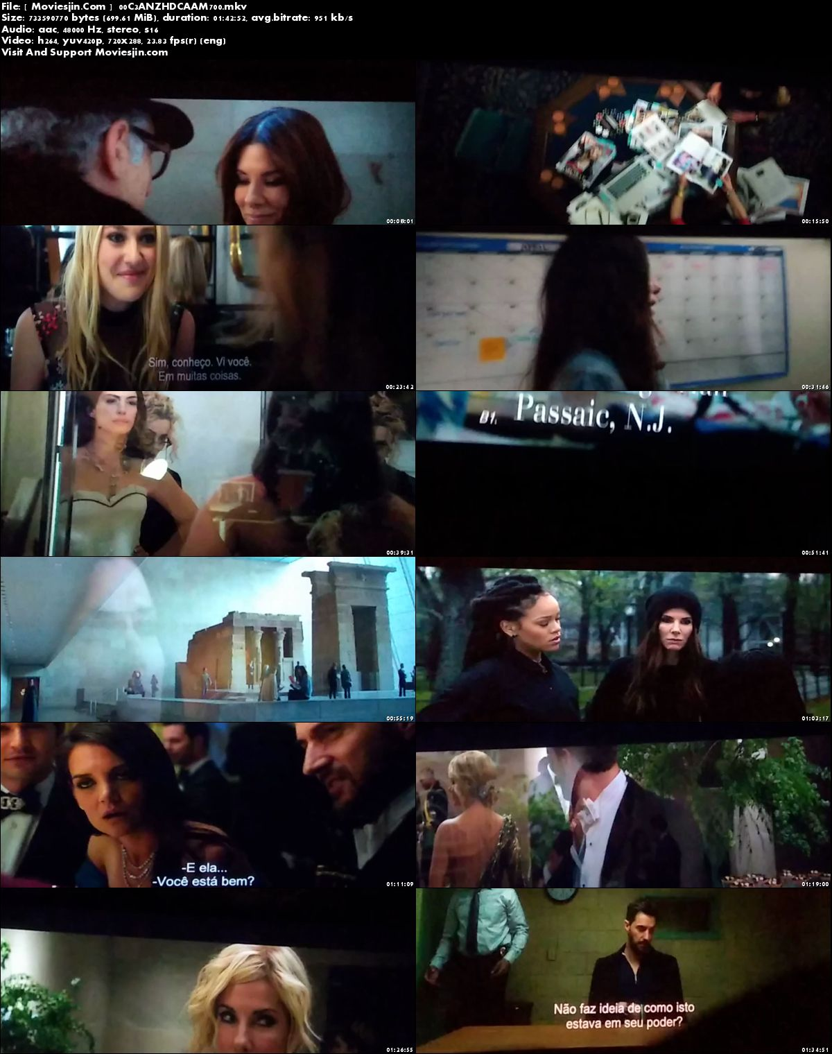 Watch Online Oceans 8 2018 Movie English CAM-Rip x264 690MB Full Movie Download mkvcage