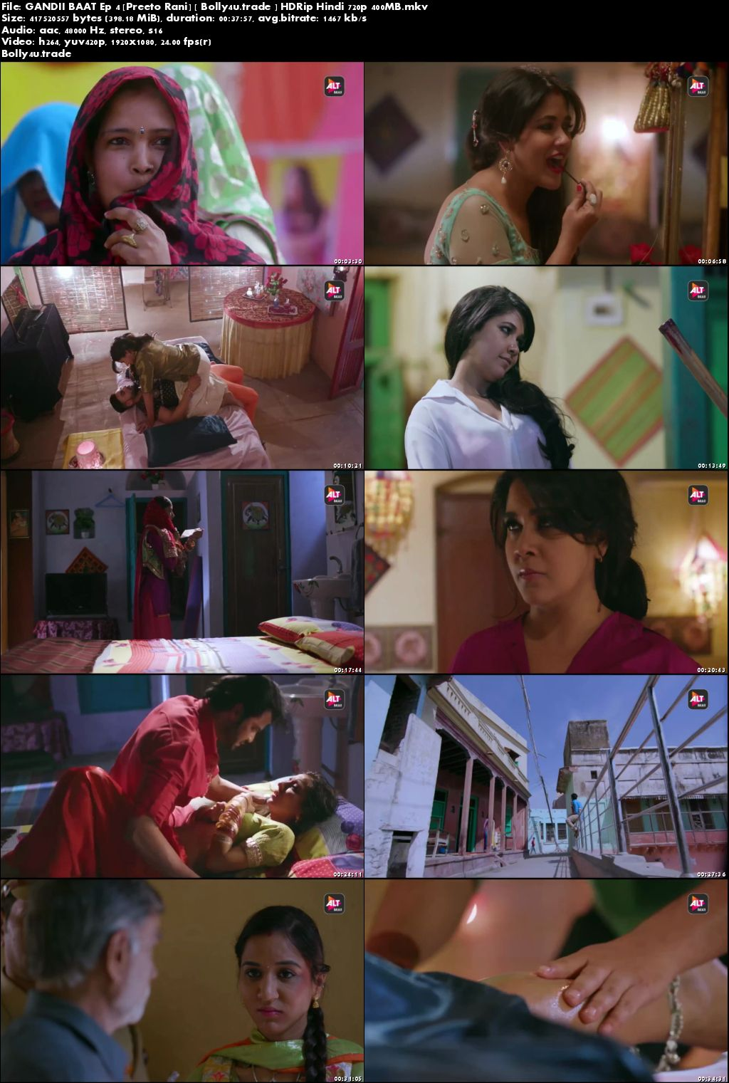 Gandii Baat Ep 04 Preeto Rani HDRip 400MB Hindi (720p►1280 x 720 pixels) Download