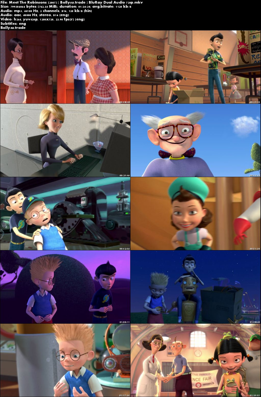 Meet The Robinsons 2007 BluRay 300Mb Hindi Dual Audio 480p Download