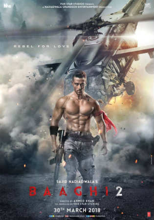 Baaghi 2 2018 HDRip 350Mb Full Hindi Movie Download 480p Watch Online Free Worldfree4u 9xmovies