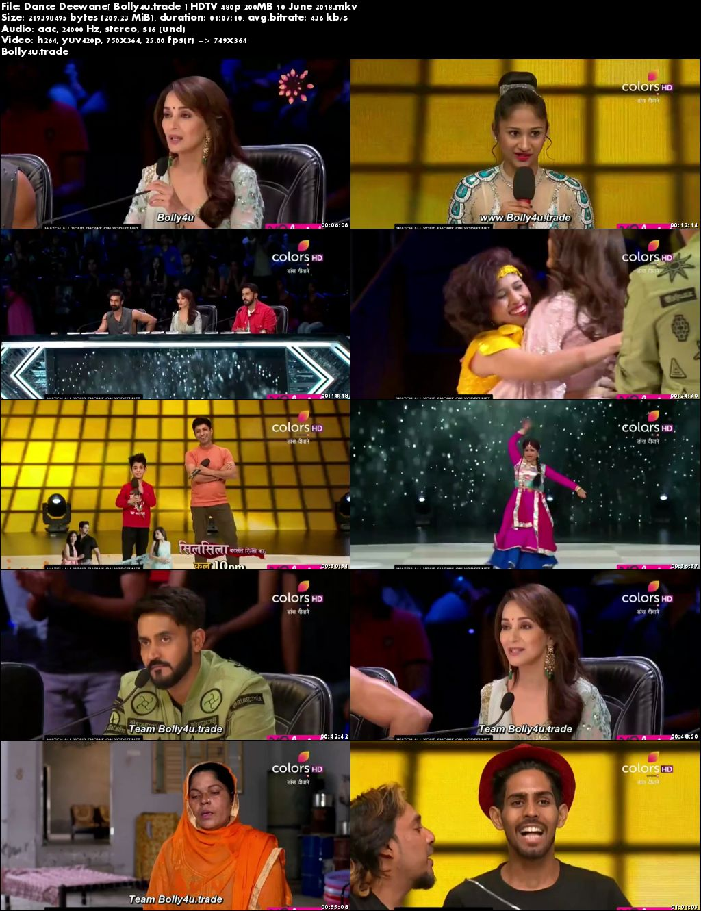 Dance Deewane HDTV 480p 200MB 10 June 2018 Download