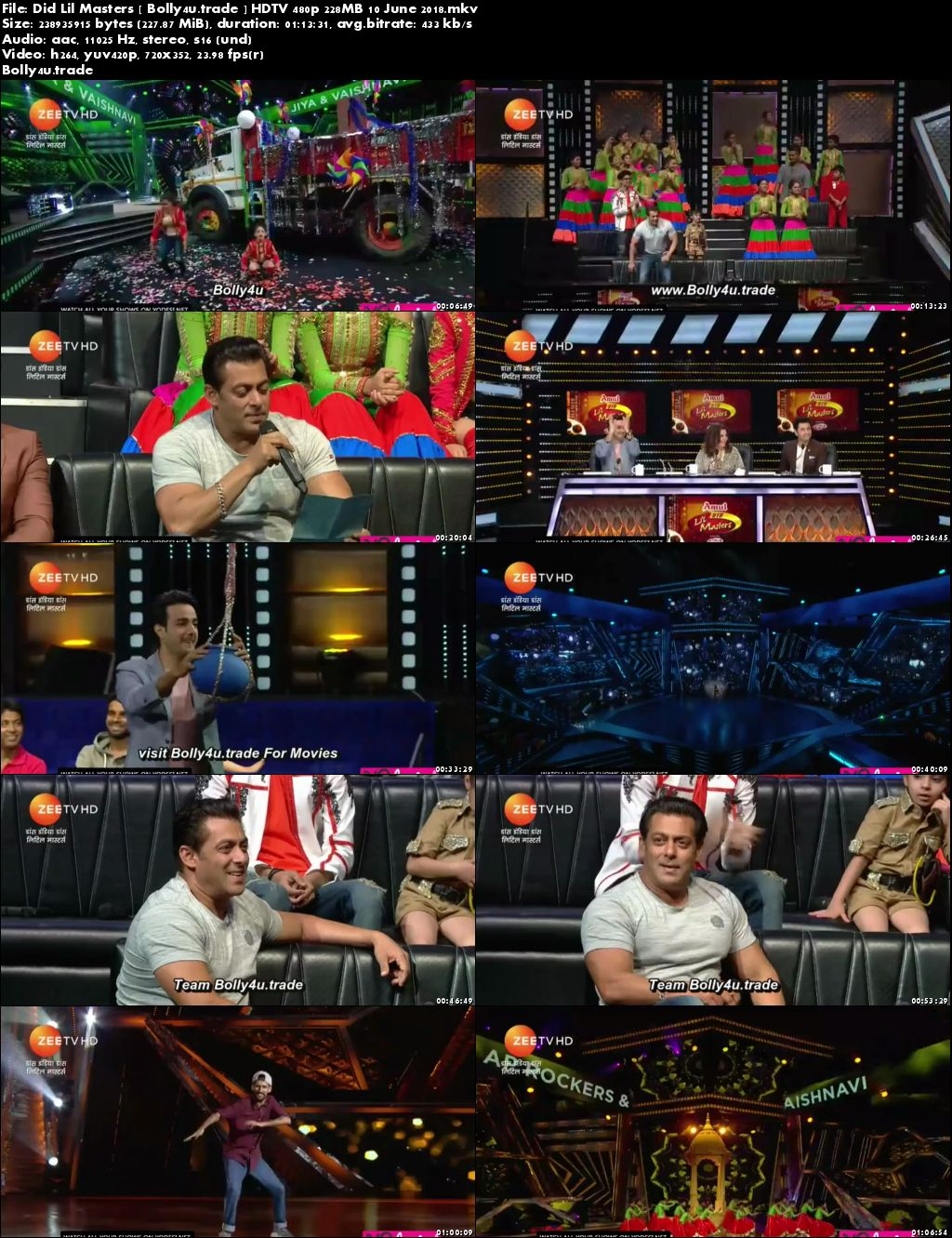 DID Lil Masters HDTV 480p 200MB 10 June 2018 Download