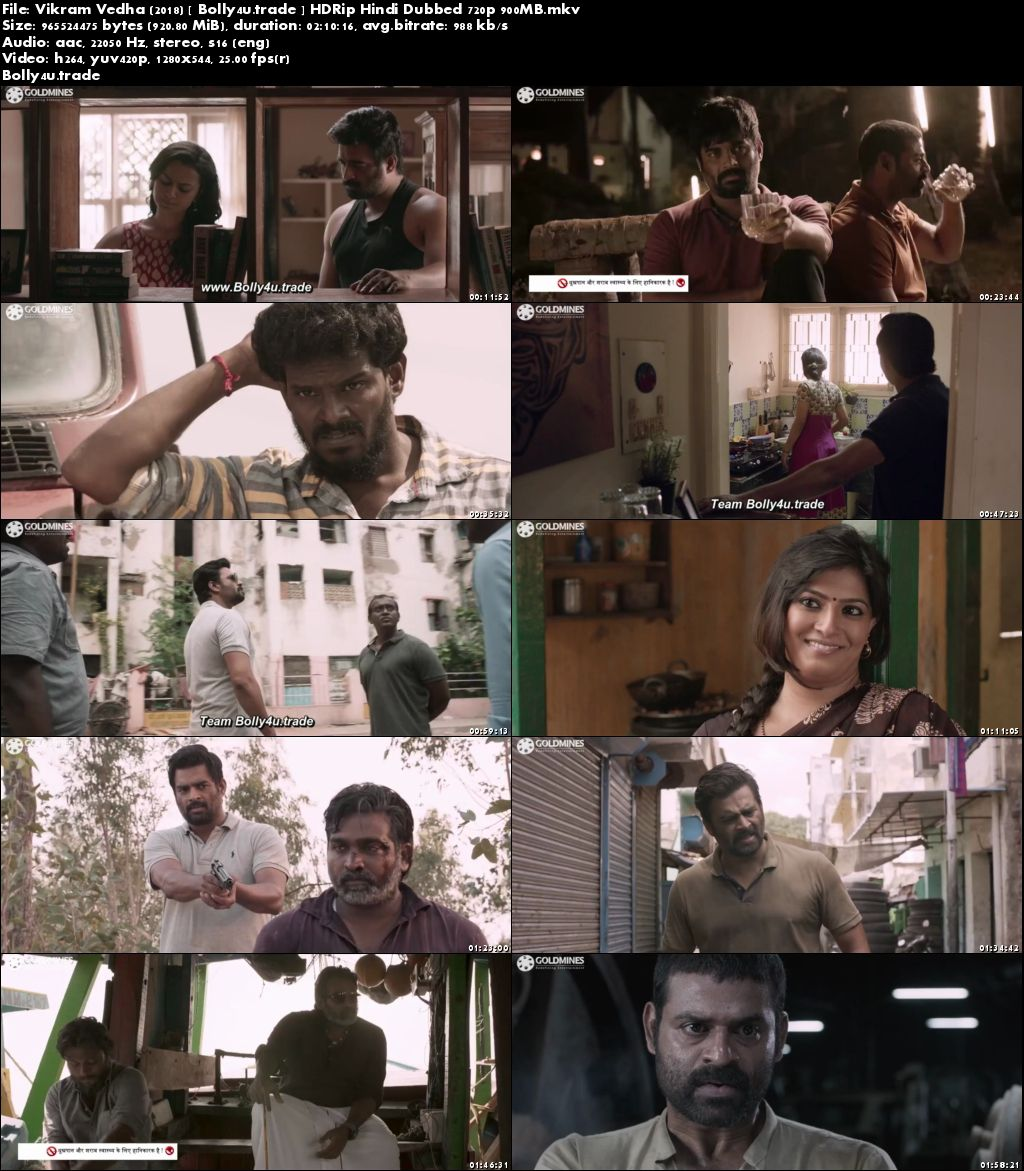 Vikram Vedha 2018 HDRip 350MB Hindi Dubbed 480p Download