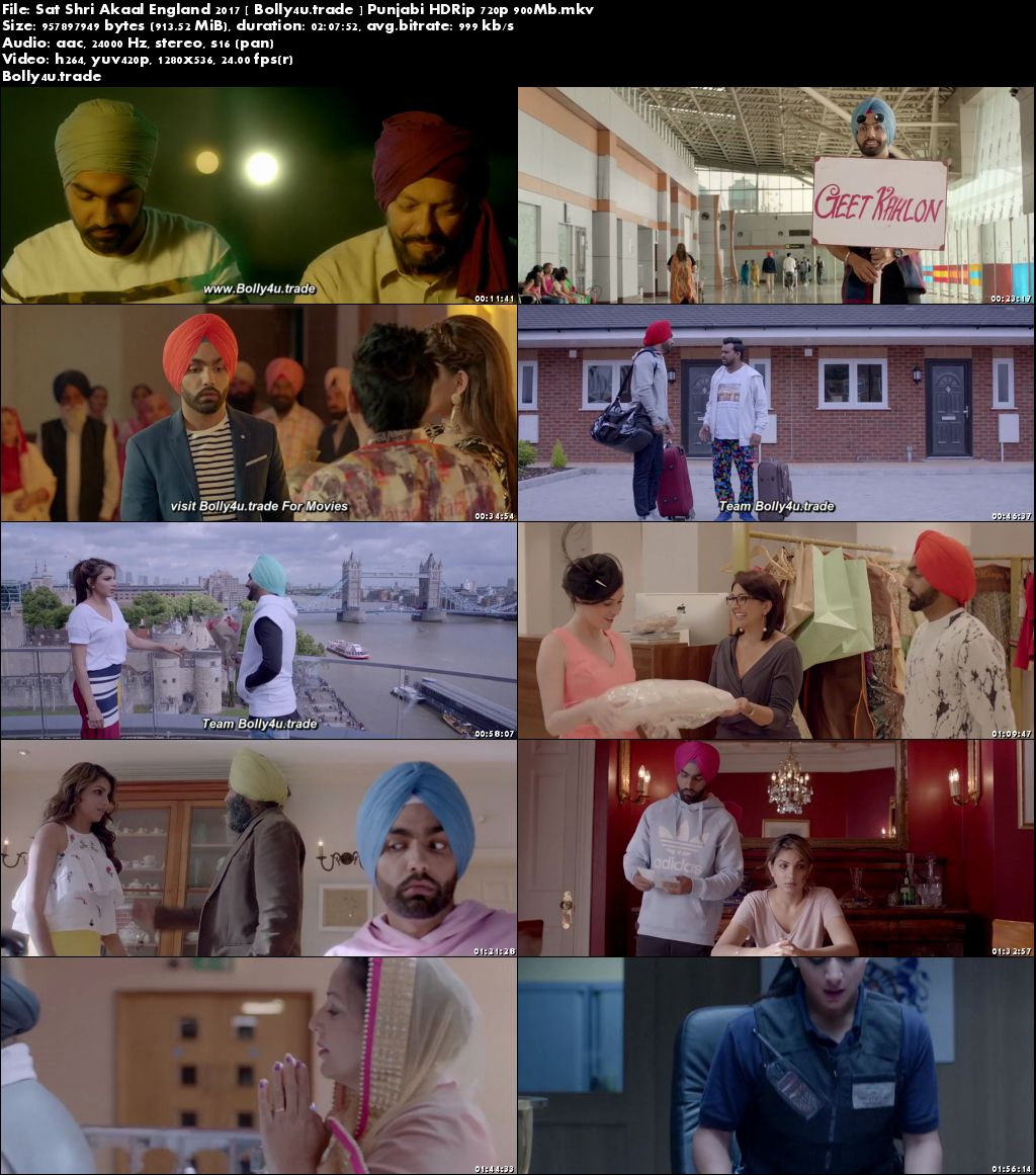 Sat Shri Akaal England 2017 HDRip 900MB Full Punjabi Movie Download 720p