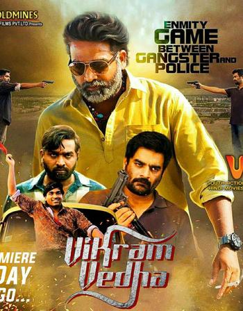 Watch Online Vikram Vedha 2018 Movie UnCuT Hindi 435MB Dual Audio 480p Esub Full Movie Download mkvcage