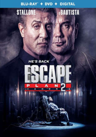 Escape Plan 2 Hades 2018 BRRip 900MB English 720p ESub