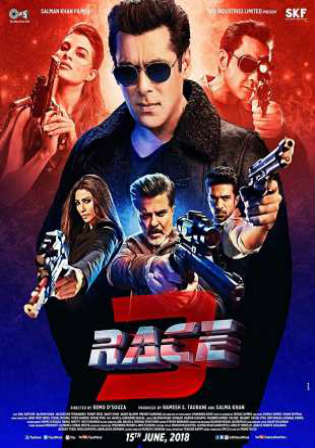 Race 3 2018 Pre DVDRip 400MB Full Hindi Movie Download 480p